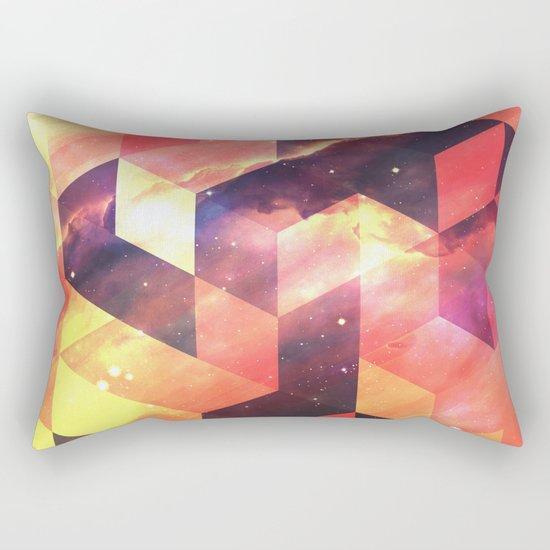 Geometric Fire Rectangular Pillow