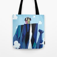 pixar Tote Bags featuring A Pixar Adventure! by Create The Crown!