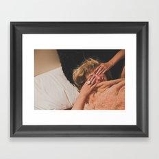 Shower Glow Framed Art Print
