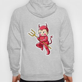 Little Red Devil Kewpie Baby Hoody