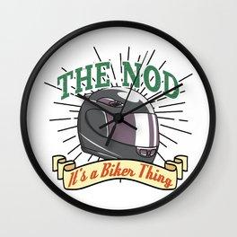 Bikers Nod Wall Clock