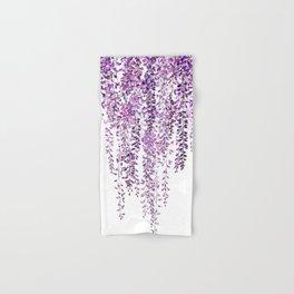 purple wisteria in bloom Hand & Bath Towel