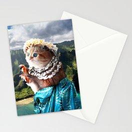 Funny Aloha Hawaiian Cat Stationery Cards