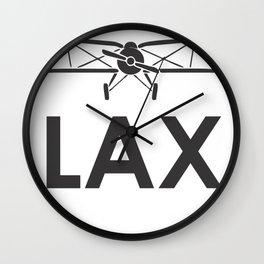 Los Angeles Airport  code Wall Clock