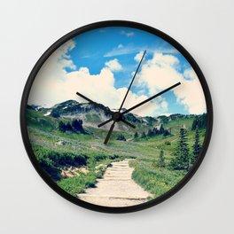 Up Mount Rainier Wall Clock