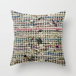 Sustainable Tatters Throw Pillow