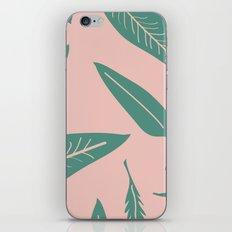 Leaves pink iPhone & iPod Skin