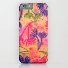 COW PARSLEY 3 - Happy Neon Pink Cherry Acid Green Nature Floral Abstract Watercolor Painting Pattern Slim Case iPhone 6s