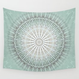 Mint Taupe Mandala Wall Tapestry