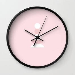 Zen - Balancing - Pink Wall Clock