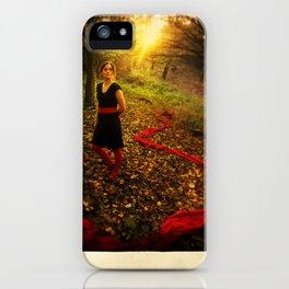Lizzie Nunnery in the Garden iPhone Case