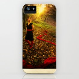 Lizzie Nunnery in the Garden iPhone Case