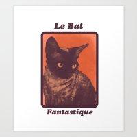 Le Bat Fantastique Art Print