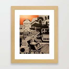 Infrastructure - Watercolor and Ink on Paper - 2013 Framed Art Print