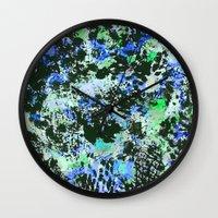 david fleck Wall Clocks featuring Crystal Fleck by Mia Felce