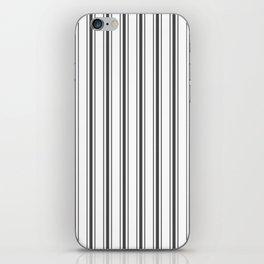 Mattress Ticking Wide Striped Pattern Black and White iPhone Skin