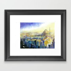 City Walls Framed Art Print