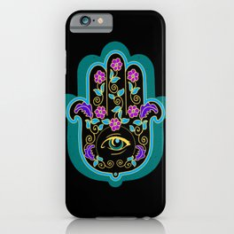 Hamsa Powerful Spiritual Amulet Pattern iPhone Case