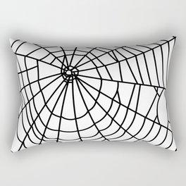 black spider on white background Rectangular Pillow