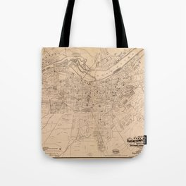 Map Of Louisville 1873 Tote Bag