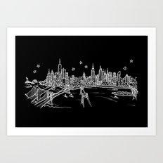 New York, New York City Skyline Art Print
