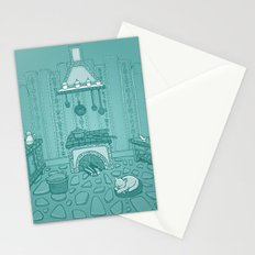 Cat in the kitchen Stationery Cards