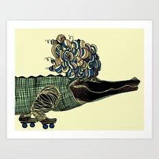 Croc Art Print