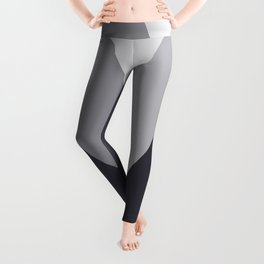Sawtooth Inverted Blue Grey Leggings