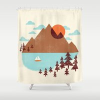 indian Shower Curtains featuring Indian Summer by Jenny Tiffany