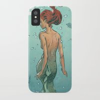 mermaid iPhone & iPod Cases featuring Mermaid by Calavera