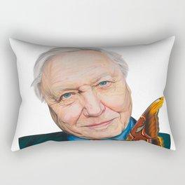 SIR DAVID ATTENBOROUGH 2015 71cm x 49cm Prismacolor & Mixed Media Rectangular Pillow