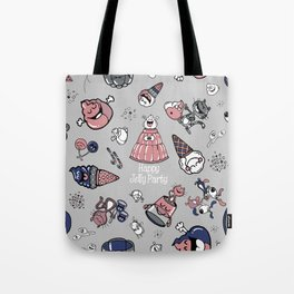 Jelly Party (Grey) Tote Bag