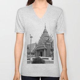 Maha chula Temple Unisex V-Neck