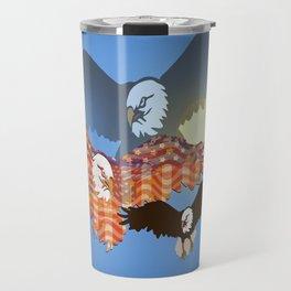 American Eagles Tribute Blue Travel Mug