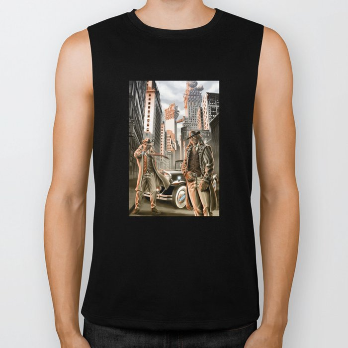 Detectives from other worlds Biker Tank