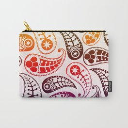 Paisley Rainbow Pattern Carry-All Pouch