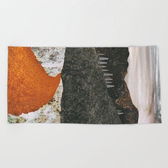 Desert Snow Beach Towel