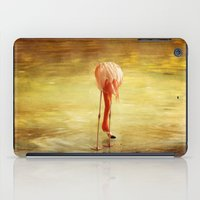 flamingo iPad Cases featuring Flamingo by Kim Bajorek