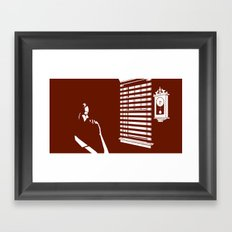 Time to cry Framed Art Print