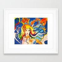 destiny Framed Art Prints featuring Destiny by Ming Myaskovsky