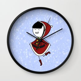 Holly and Jolly Wall Clock