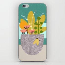 Succulent Garden with Moth iPhone Skin