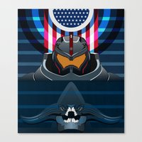 pacific rim Canvas Prints featuring Pacific Rim, Jaws edition by milanova