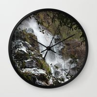 waterfall Wall Clocks featuring Waterfall by Four Hands Art