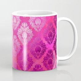 """""""Magenta Pink Damask Pattern"""" Coffee Mug"""