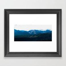 mountain range .  Framed Art Print