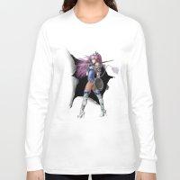 manga Long Sleeve T-shirts featuring Manga Unicorn by Illu-Pic-A.T.Art