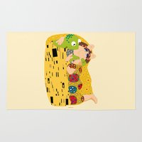 kermit Area & Throw Rugs featuring Klimt muppets by tuditees