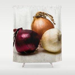 Three onions Shower Curtain