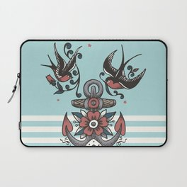 Anchor with birds - Keep my feet on the ground Laptop Sleeve